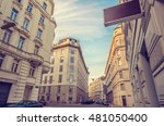 city scene of vienna  austria   ... | Shutterstock . vector #481050400