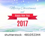 triangle polygon christmas... | Shutterstock .eps vector #481052344
