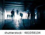 people silhouettes in the... | Shutterstock . vector #481058134