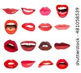 lips set. lip design element.... | Shutterstock . vector #481058539