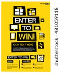 enter to win   flat style... | Shutterstock .eps vector #481059118
