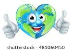 a cute happy cartoon heart...   Shutterstock .eps vector #481060450