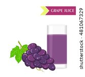 illustration with juicy and... | Shutterstock . vector #481067329