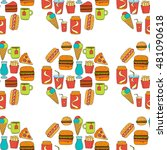 hand drawn vector doodle icons... | Shutterstock .eps vector #481090618