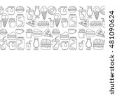 hand drawn vector doodle icons... | Shutterstock .eps vector #481090624
