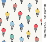 seamless stylish pattern with... | Shutterstock .eps vector #481102498
