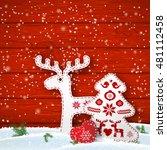 christmas motive in... | Shutterstock .eps vector #481112458