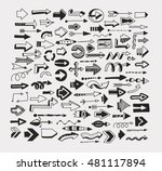 set of arrows. black characters ... | Shutterstock .eps vector #481117894