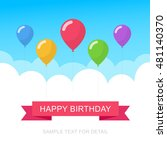 happy birthday text box  color... | Shutterstock .eps vector #481140370