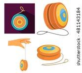 yo yo toy | Shutterstock .eps vector #481143184
