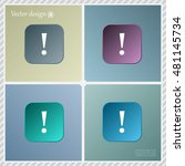 attention caution sign icon....   Shutterstock .eps vector #481145734
