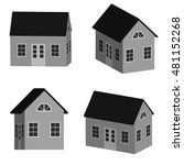 grey little house in 3d ... | Shutterstock .eps vector #481152268