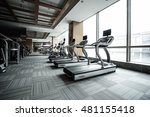 fitness club in luxury hotel...   Shutterstock . vector #481155418