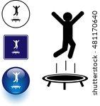 trampoline jumping symbol sign... | Shutterstock .eps vector #481170640