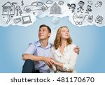 young happy couple | Shutterstock . vector #481170670