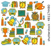 school and education icons | Shutterstock .eps vector #481174480