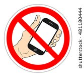 ban phone  no mobile cell phone ...