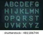 glowing tube typeset with... | Shutterstock .eps vector #481186744