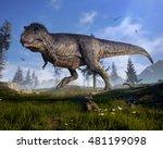 3d rendering of tyrannosaurus... | Shutterstock . vector #481199098