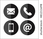 communication icons. vector... | Shutterstock .eps vector #481211698