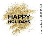 gold glitter background with... | Shutterstock .eps vector #481215244