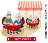 happy retired people. couple of ... | Shutterstock .eps vector #481225870