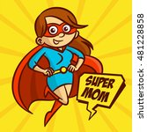 superheroes super mom family... | Shutterstock .eps vector #481228858