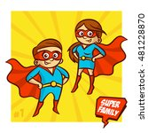 super family. mother and father ... | Shutterstock .eps vector #481228870