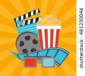 cinema entertainment flat icon...   Shutterstock .eps vector #481230046