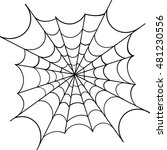 spiderweb on white background ... | Shutterstock .eps vector #481230556