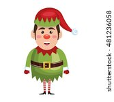 santa helper cartoon   Shutterstock .eps vector #481236058