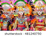 Parade Of Colorful Smiling Mas...