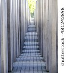 mazelike holocaust memorial... | Shutterstock . vector #481242898