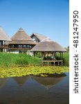 houses in danube delta  romania. | Shutterstock . vector #481247950