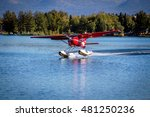 Seaplane Take Off From Lake...