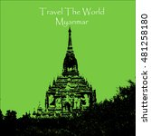 travel the world. bagan myanmar....   Shutterstock .eps vector #481258180