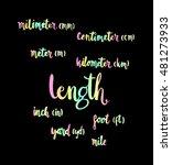 length. hand written formula of ... | Shutterstock .eps vector #481273933