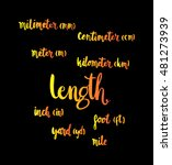 length. hand written formula of ... | Shutterstock .eps vector #481273939