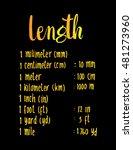 length. hand written formula of ... | Shutterstock .eps vector #481273960