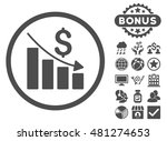 recession chart icon with bonus.... | Shutterstock .eps vector #481274653