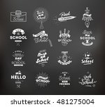 back to school typographic... | Shutterstock .eps vector #481275004