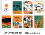 set of artistic creative autumn ... | Shutterstock .eps vector #481283119
