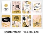 set of artistic creative autumn ... | Shutterstock .eps vector #481283128