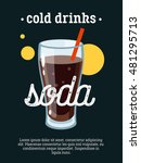 cold drinks   blackboard... | Shutterstock .eps vector #481295713