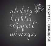 vector hand drawn alphabet.... | Shutterstock .eps vector #481297528