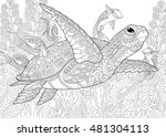 Stylized Composition Of Turtle  ...