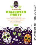 halloween party invitation or... | Shutterstock .eps vector #481304134