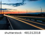 moving car with blur light... | Shutterstock . vector #481312018