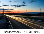 moving car with blur light... | Shutterstock . vector #481312048