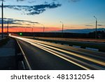 moving car with blur light... | Shutterstock . vector #481312054